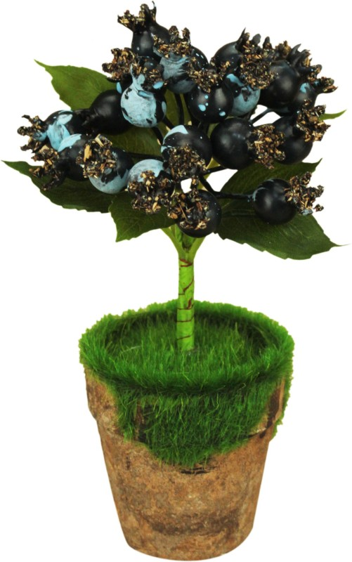 AVMART Multi Pomegranate 8 Inch Artificial Fruit Plant for Indoor/Outdoor Home, Office, Garden Lawn Decoration with Pot for Gift & Home Decor Artificial Fruit(Set of 15)