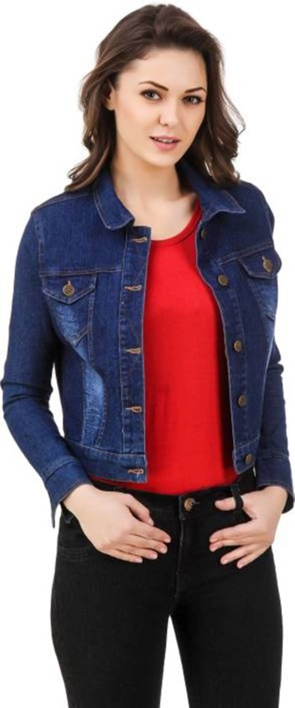 INDIAN WESTESN FASHION Full Sleeve Solid Women's Denim Jacket