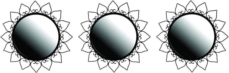 Zincopp 3 Mirror Decorative Mirror(Designer Finish : Powder Coated)