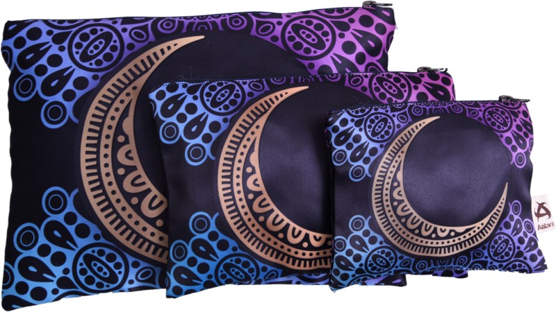 Astara Mandala Satin Pouch Set of 3 Pouch(Multicolor)