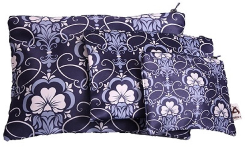 Astara Floral Blackout Satin Set of 3 Pouch Pouch(Grey)
