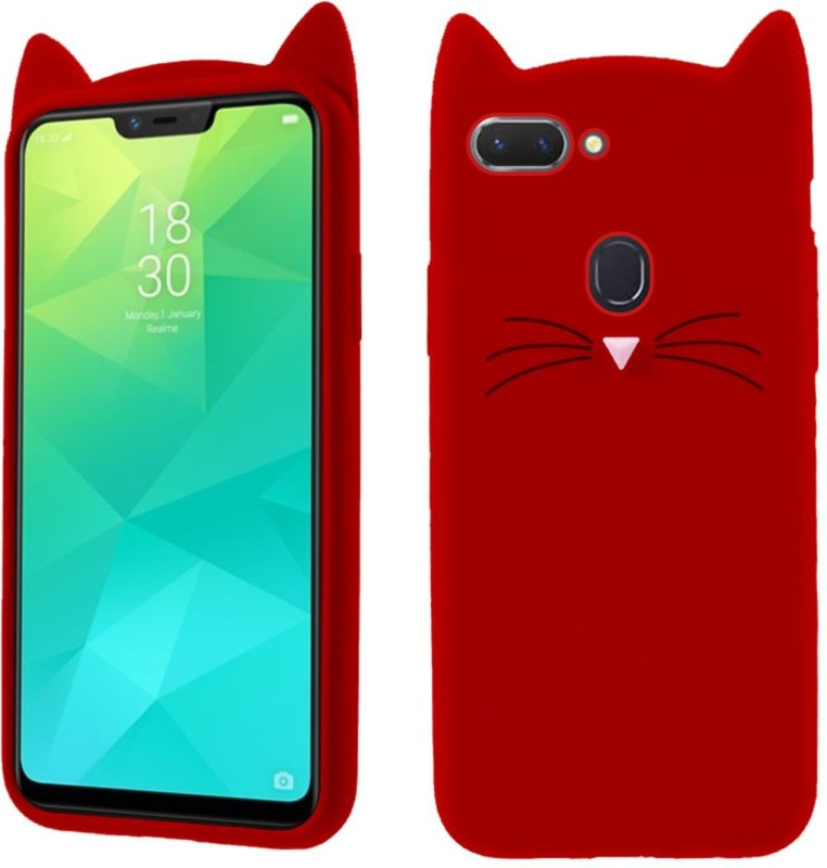 Case Creation Back Cover for Oppo A5(Cute CAT 3D Red, 3D Case,...