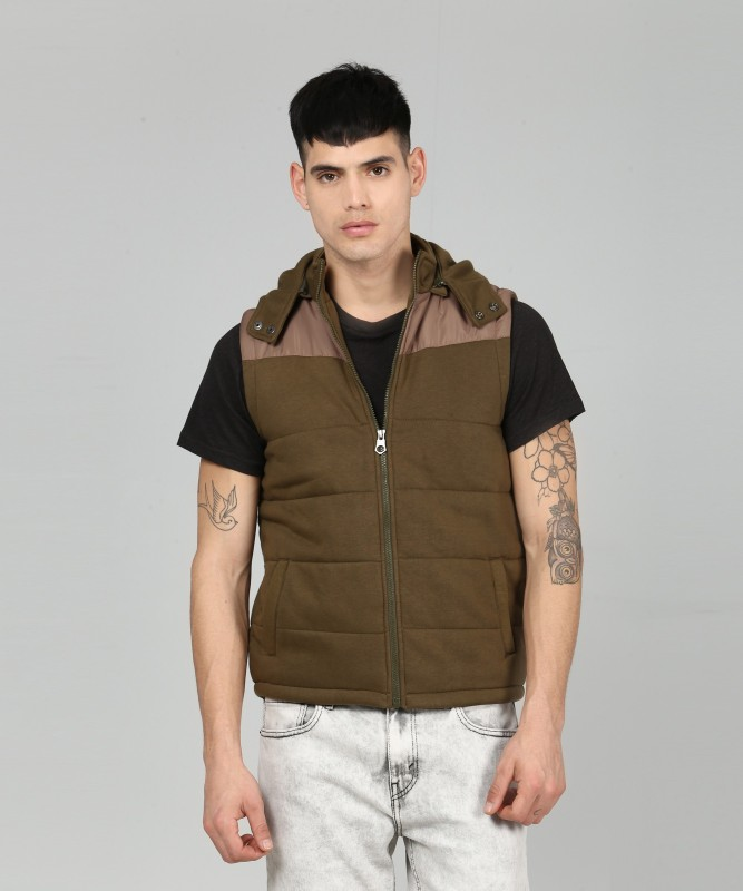 Pepe Jeans Sleeveless Self Design Men Jacket