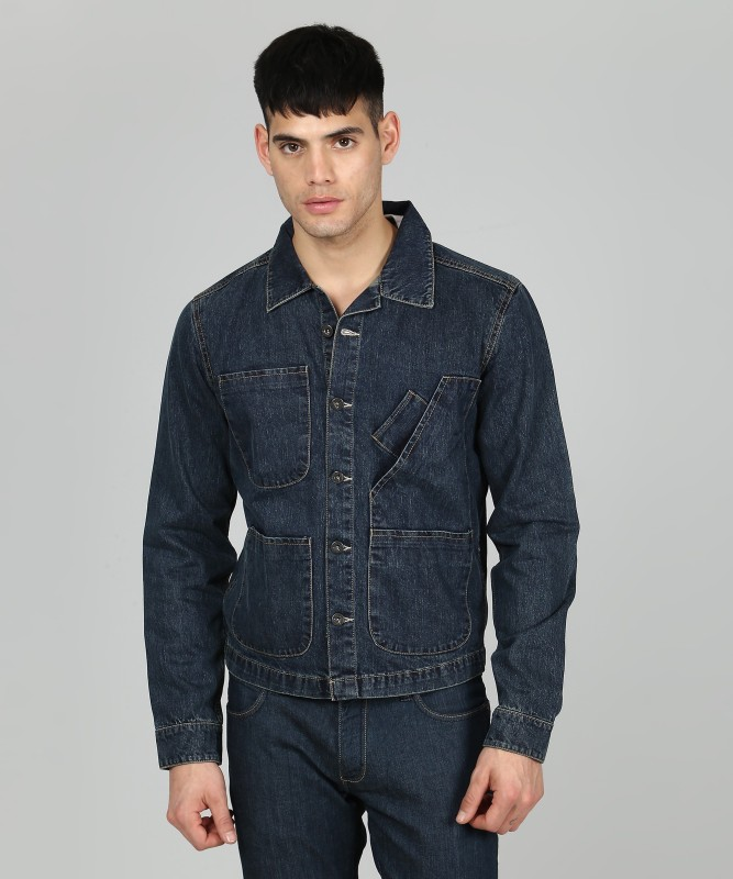 Pepe Jeans Full Sleeve Solid Men Denim Jacket
