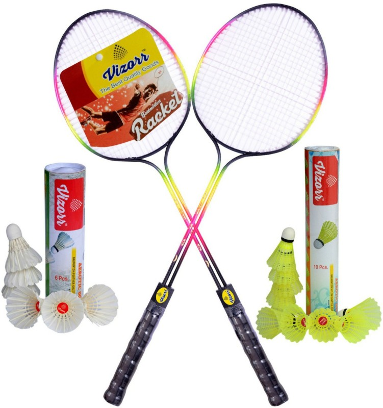 Vizorr Racer Double Shaft Badminton Kit