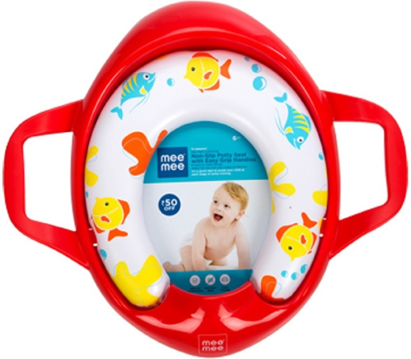 MeeMee Soft Cushioned Potty Seat with Support Handles Potty Seat(DARK RED)