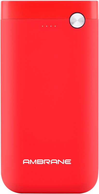 Ambrane 10000 mAh Power Bank (PP-11)(Red, Lithium Polymer)
