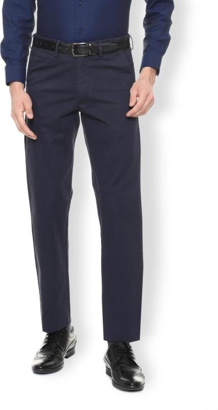 Van Heusen Regular Fit Men Blue Trousers