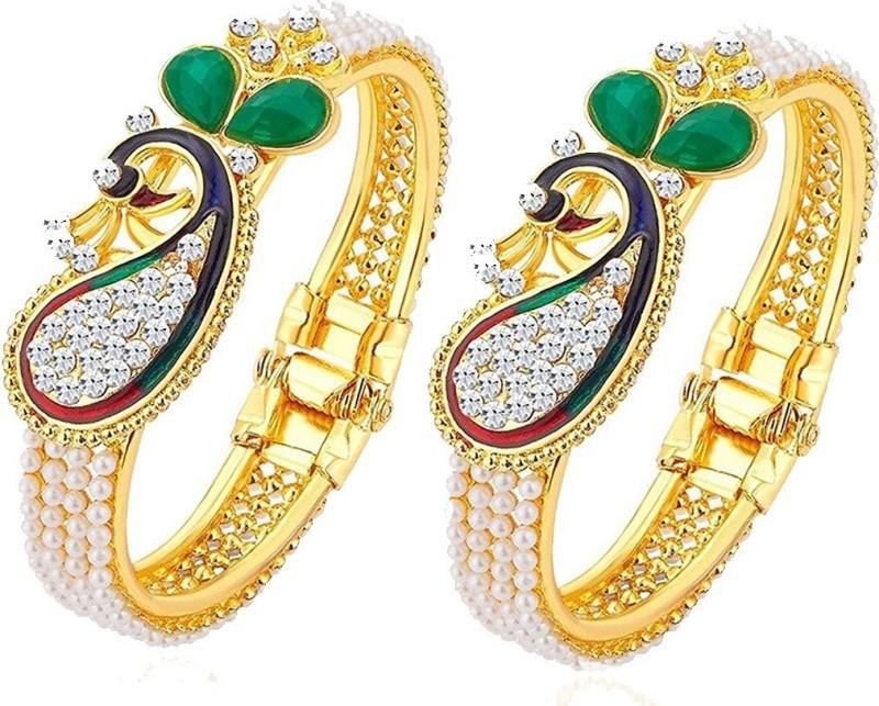 Zeneme Alloy Gold-plated Bracelet Set(Pack of 2)