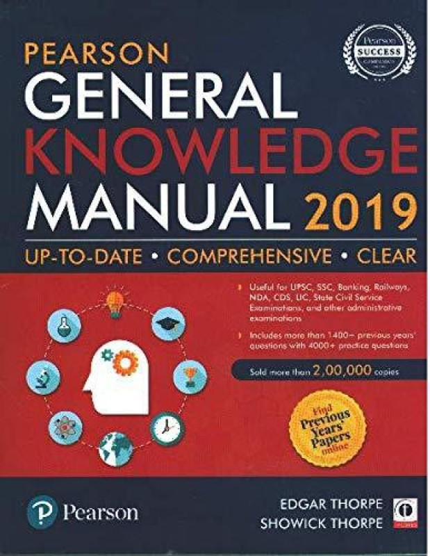 Pearson General Knowledge Manual 2019 (With Previous Years' Papers online)2018(English, Paperback, Edgar Thorpe, Showick Thorpe�)