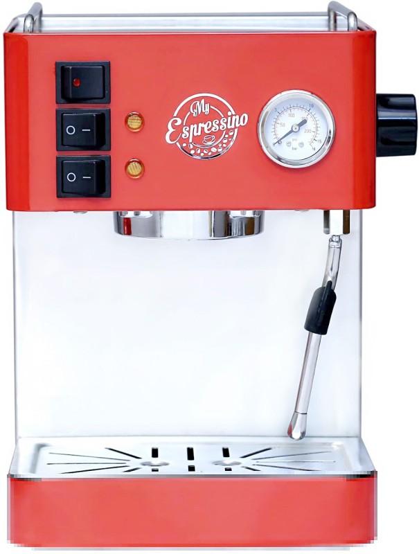 myespressino MECMRCH001 20 Coffee Maker(Shiny Red & Chrome finish)