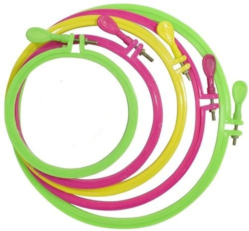 AsianHobbyCrafts Plastic Fabric Embroidery Hoop Ring Frame :Dia : 9