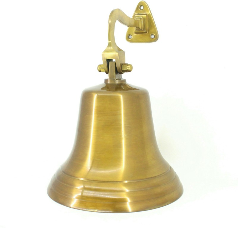 V A Antiques VA Antique Man Brass Indoor Bell(Gold)