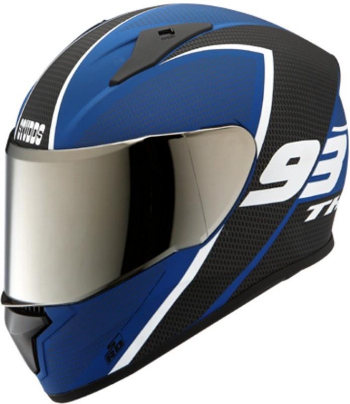 Studds THUNDER D3 DECOR ( Matt Finish ) Motorbike Helmet(Matt Black Blue)
