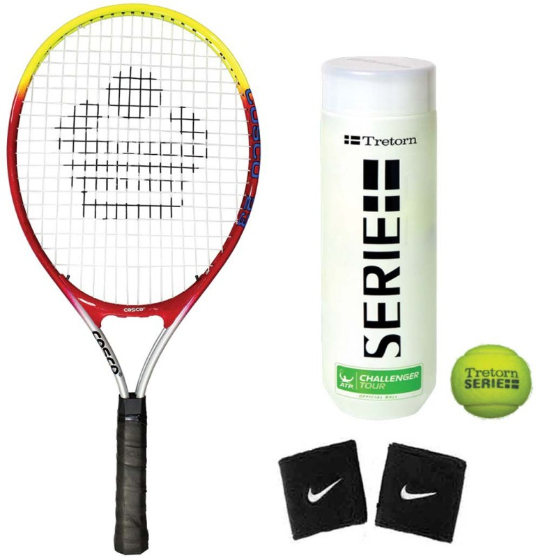 Cosco Drive 23 ( Junior Size ) ( Age Group 6 to 8 Years ) Tennis Racquet ( Color on Availability) with Tennis Ball