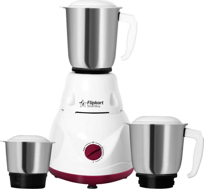 Flipkart SmartBuy FKSBMG50DHWMSUV 500 W Mixer Grinder(White, Maroon, 3 Jars)