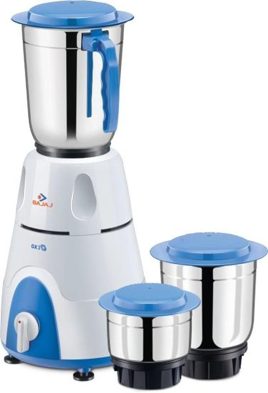 Bajaj GX 3 500 500 Juicer Mixer Grinder(White, 3 Jars)