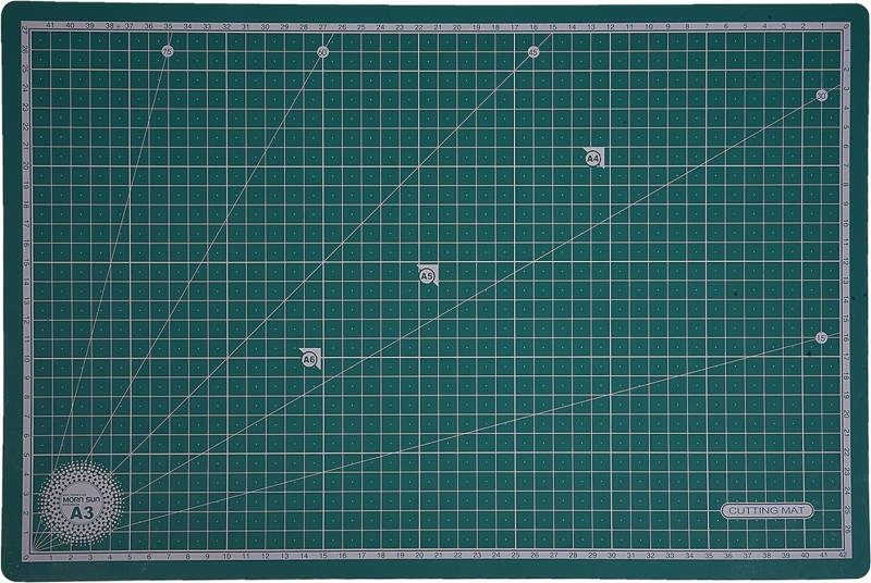 Mornsun Non-Slip Flexible Self-Healing Grid Line Print Cutting Mat(450 mm x 300 mm)