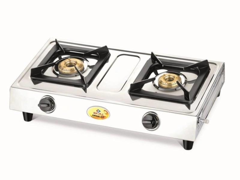 Bajaj Stainless Steel Manual Gas Stove(2 Burners)