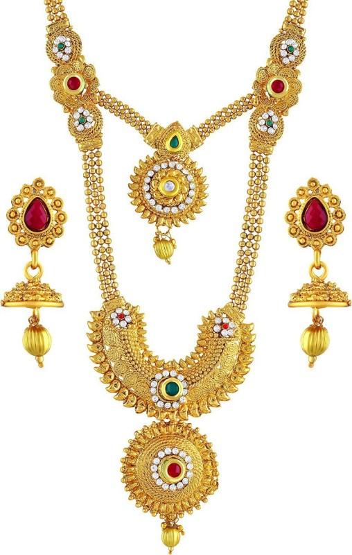 Asmitta Jewellery Zinc Jewel Set(Gold)