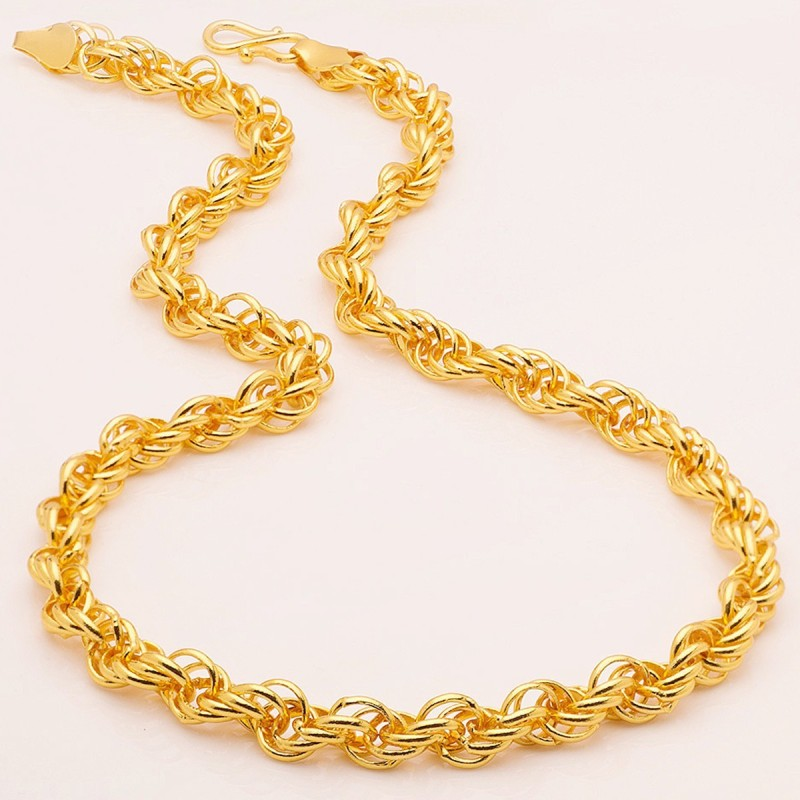 Fashion Frill Branded Trendy & Traditional Fancy Men Gold-plated Plated Metal Chain