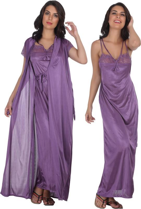 Familina Women's Nighty(Purple)