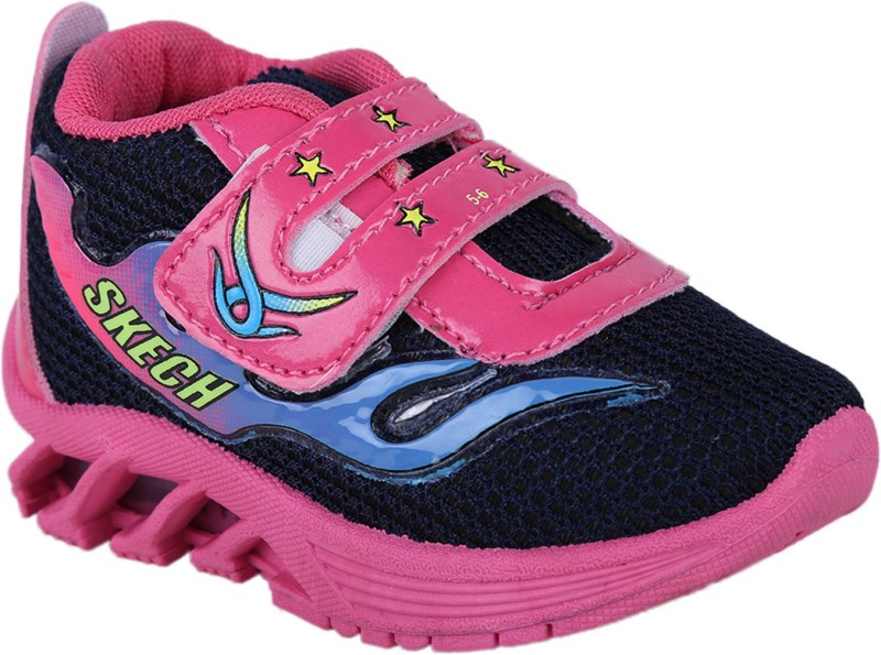 BUNNIES Boys & Girls Velcro Running Shoes(Black)