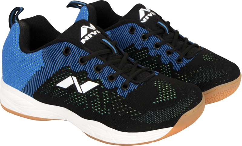 Nivia Glister Badminton Shoes For Men(Blue, Black)