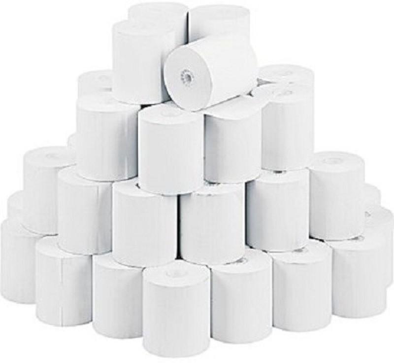 mm enterprises 80mmx50mtr.(3inch) pos machine roll set of 30 Rolls Thermal Cash Register Paper(8 cm x 12 cm)