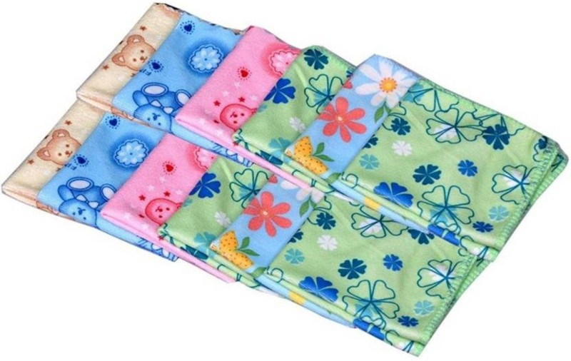 Best Flower Printed Handkerchief with Soft & Good quality stuff for Kids and Women,22*22 cm,Multi Design and Multi Color,Pack of 12 Handkerchief(Pack of 12)