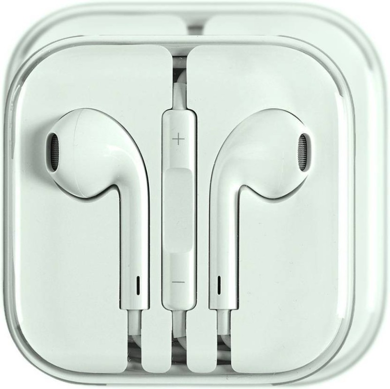 DILURBAN High Sound Quality Earphone for iphone with Mic Wired Headset with Mic(White, In the Ear)