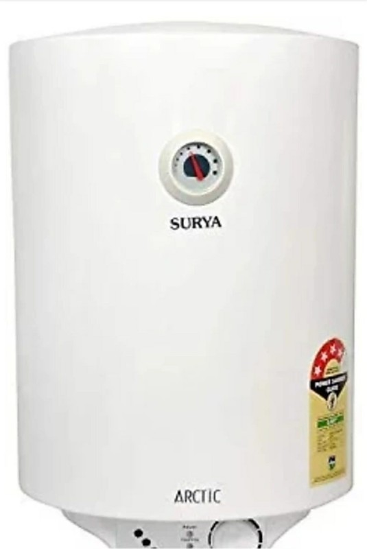 Surya 10 L Storage Water Geyser (Artic, White)