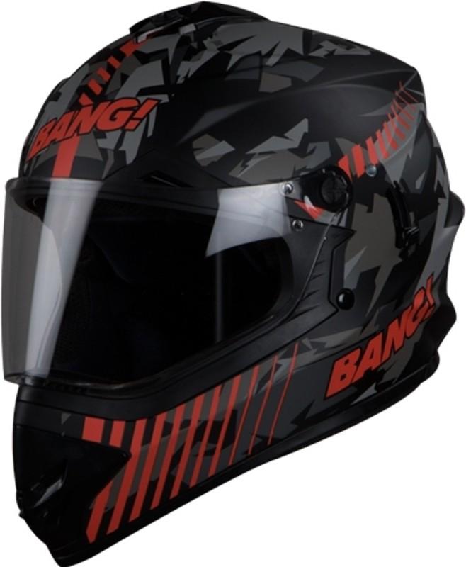 Steelbird SB-42 BANG BLAZE Motorbike Helmet(MAT BLACK-RED)