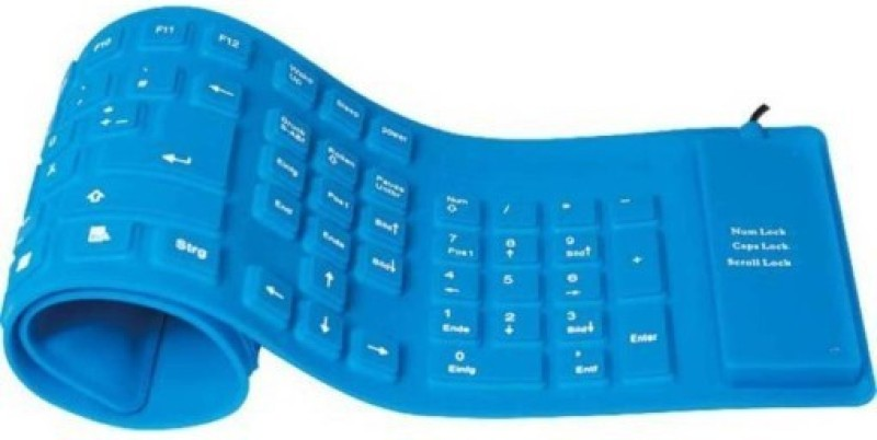 SACRO CVH_489C bluetooth keyboard for all smart phone and laptop||bluetooth keyboard|| Wireless Keyboard|| Rubber Keyboard||Water proof keboard||Foldable Flexible Wireless Bluetooth Keyboard||compatible with all android and IOS devices Bluetooth Multi-dev