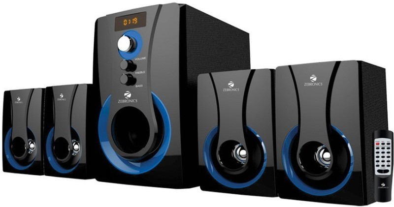 Zebronics 4.1 Multimedia SW3490 RUCF Home Theatre(Black, 4.1 Channel)