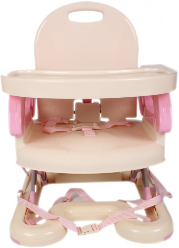 Mummamia 3 in 1 Infant to Toddler High Chair, Booster Seat Cum Stow-Away Dining Chair - Pink(Pink)