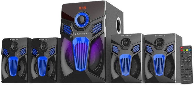 Zebronics Fantasy BT RUCF Bluetooth Home Theatre(Black & Blue, 4.1 Channel)