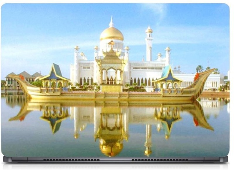 HD Arts Crystal Mosque & Floating ECO Vinyl Laptop Decal 15.6