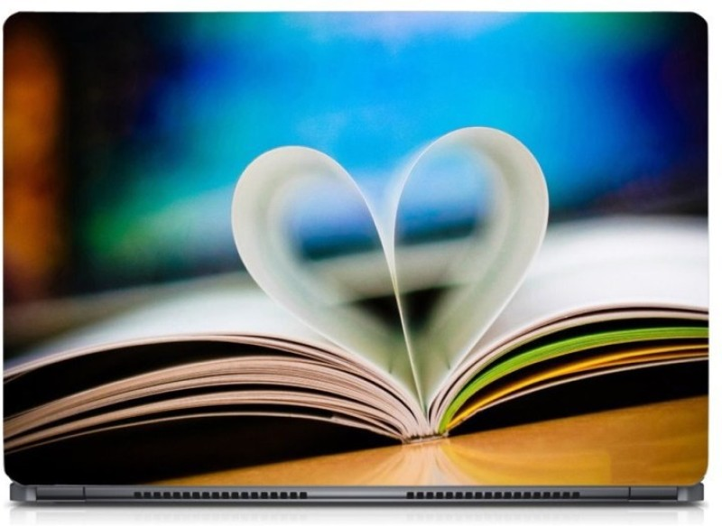 HD Arts Love Book ECO Vinyl Laptop Decal 15.6