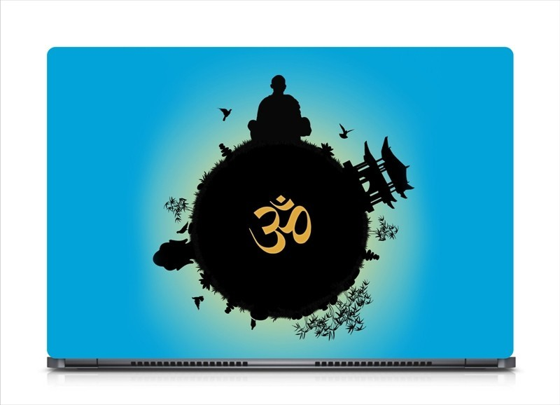 HD Arts Om- Creative Hindu Symbol ECO Vinyl Laptop Decal 15.6