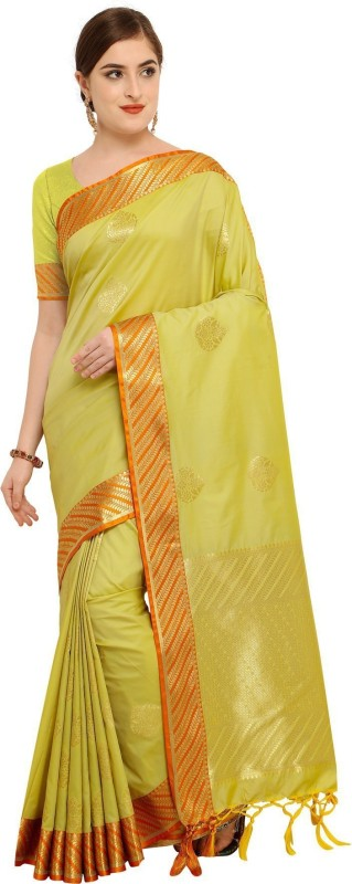 Varkala Silk Sarees Self Design Fashion Silk Saree(Light Green)