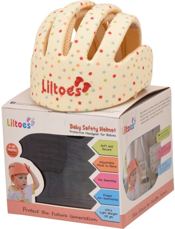 LILTOES Safety Baby Helmet(Star Print)