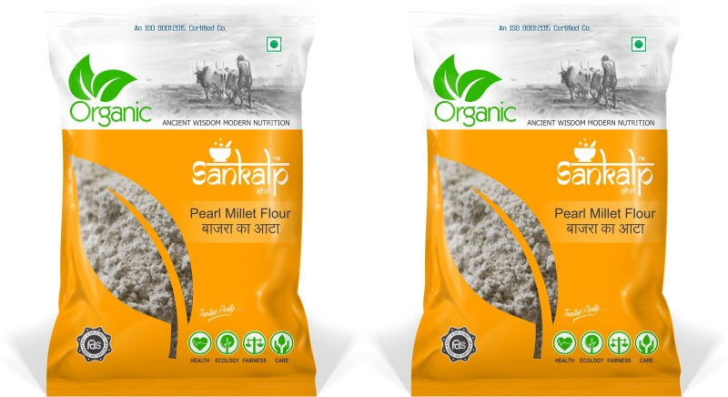 sankalpshri Organic Millet Flour | Bajra Atta(500 g, Pack of 2)
