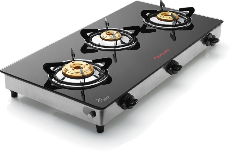 Butterfly Grand Glass Manual Gas Stove(3 Burners)