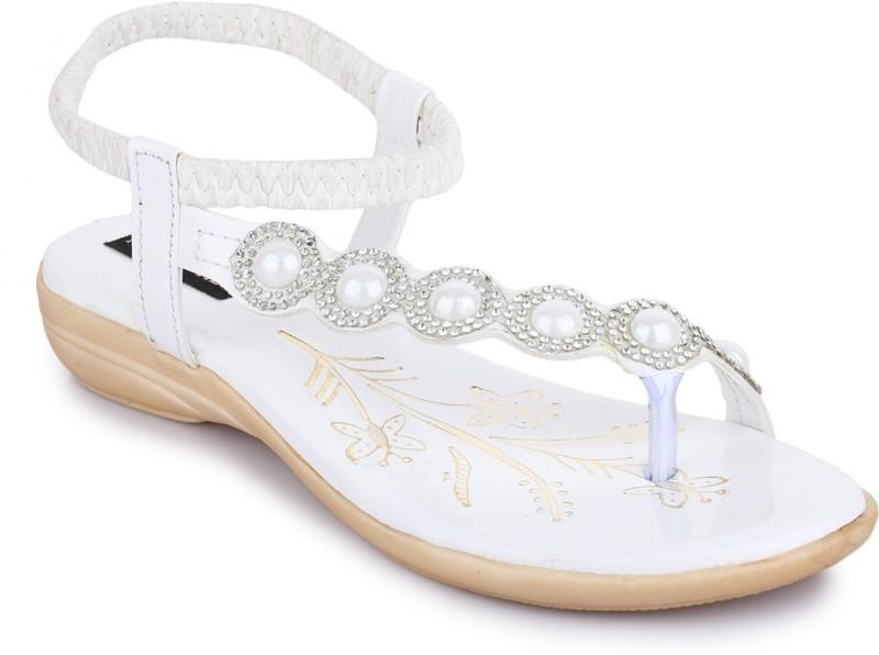 Kelemon Women White Flats