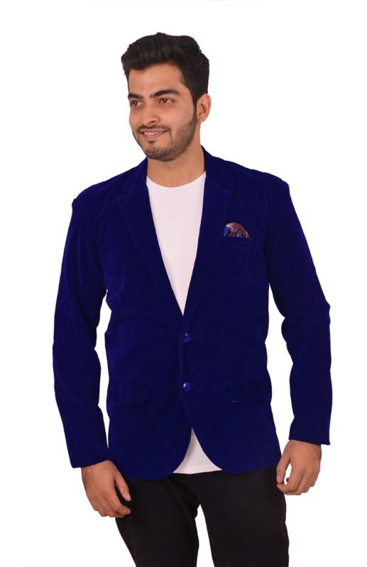 Honey Fashion Solid Single Breasted Party, Wedding Men's Blazer(Blue)