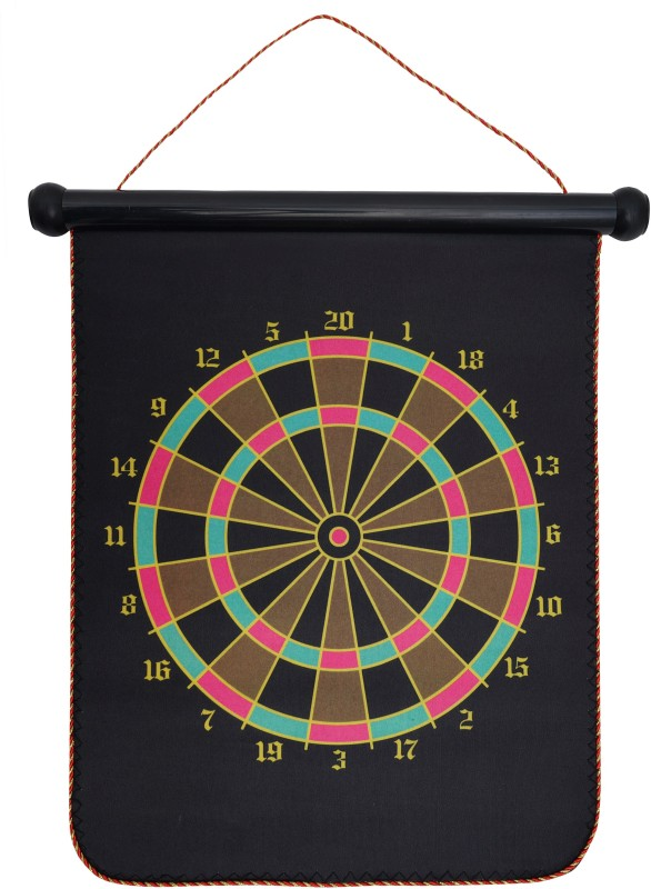 Arrowmax MAGNETIC DARTBOARD ( WITH 4 DARTS) DOUBLE SIDE BY ONE SHOT RETAIL 12 inch Dart Board(Black)