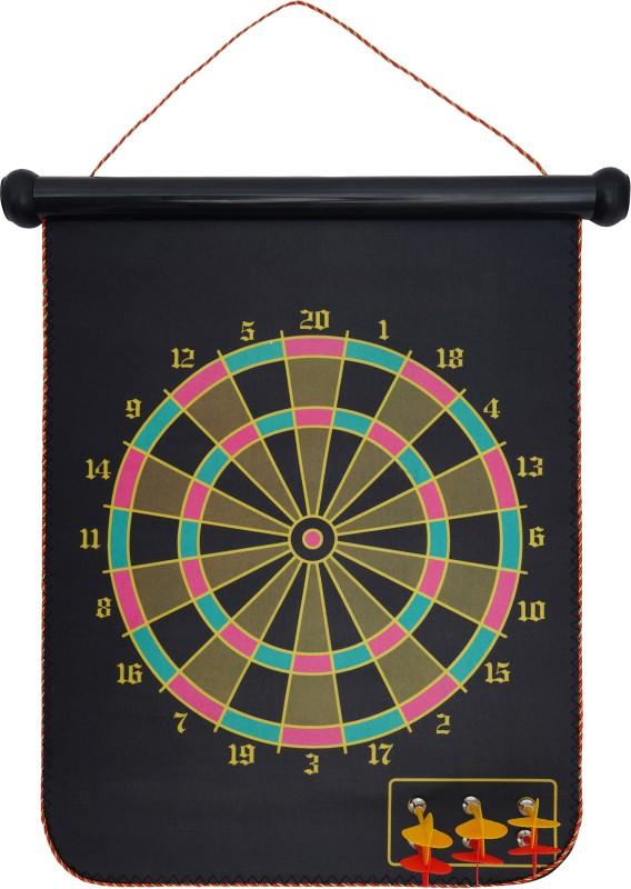 Arrowmax MAGNETIC DARTBOARD 15 inch Dart Board(Black)