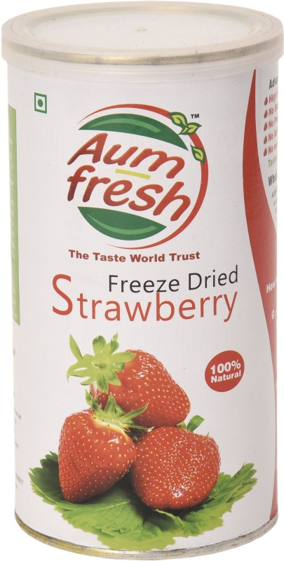 Aum Fresh Freeze Dried Strawberries Cut 25 g(3-5-7 mm for pieces)