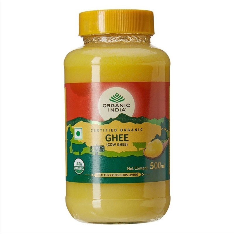 Organic India Certified Organic Cow Ghee for Healthy & Conscious Living Ghee 500 ml Glass Bottle
